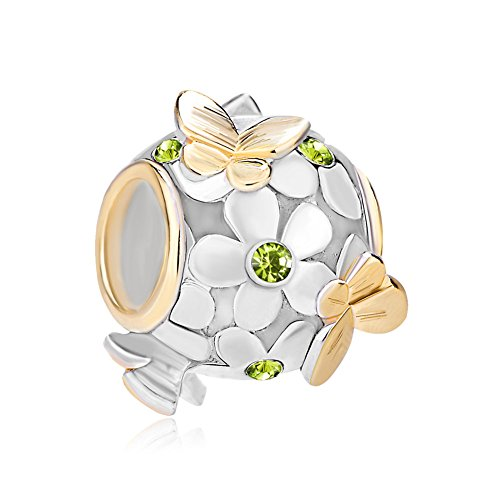 Uniqueen Fit Pandora Charms  - FASHIONOTHER   Kupfer     Cristal (Amazon Schmuck Pandora Charms)