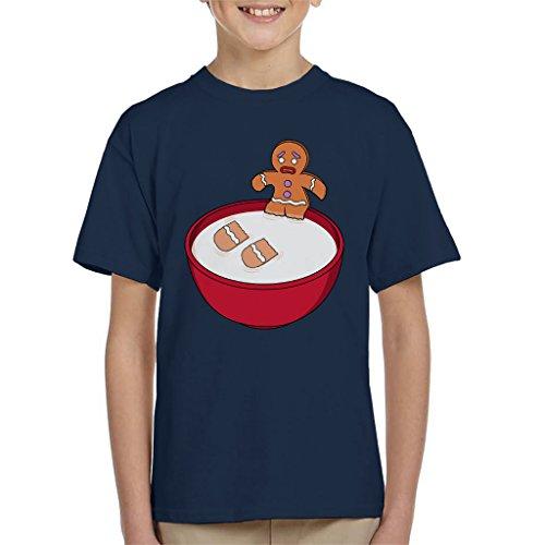 Cloud City 7 Shrek Gingerbread Man Milk Problems Kid's T-Shirt Shrek Gingerbread