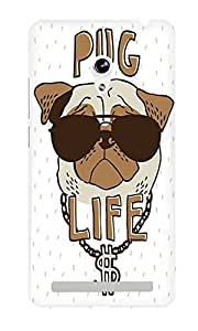 The Fappy Store Pug-Life Hard Plastic Back Case Cover For Asus Zenfone 5