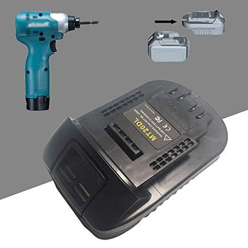 Dire-Wolves USB-Ladegerät Für Makita 18 V Lithium-Ionen-Akku, MT20DL-Adapter Für DEWALT 20 V MAX Lithium-Akku-Elektrowerkzeug, BL1830 / BL1860 / BL1815 / DCB200
