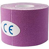 Naisicatar Kinesiología Cinta elástica Cuerda Deportes Physio Muscle Strain Injury Soporte 1 Rollo (púrpura, 5M * 5 cm / 16,4 pies 2 Pulgadas *) útil y Bien