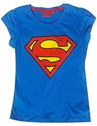 Filles sous licence officielle Superman Imprimer T-shirt à manches courtes en coton 8 ans à 12 ans