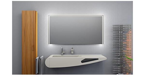 Led Badspiegel Breite 110 X Höhe 90 Cm Badezimmerspiegel