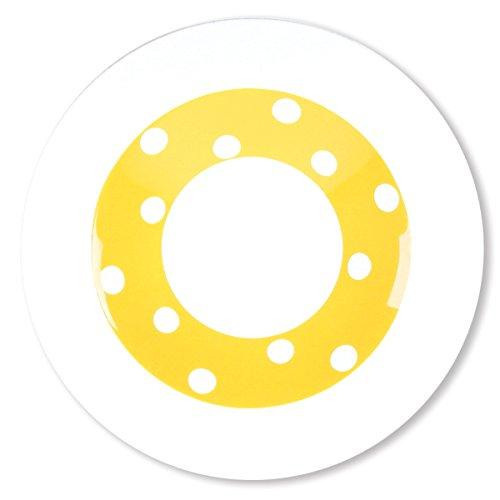 Bruno Evrard Assiette Creuse à Pois Jaune en Porcelaine 24cm - Lot de 6 - Freshness Dots