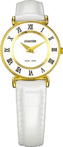 Jowissa - J2.027.S - Montre Femme - Quartz Analogique - Bracelet Cuir Blanc