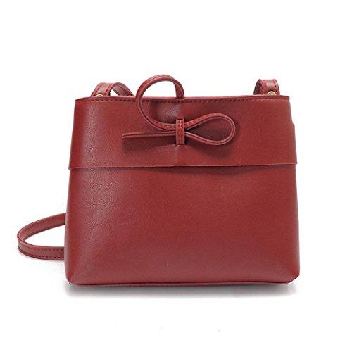 ESAILQ Femmes Messenger Mode Sacs en cuir Mini sac Forme Shell Sac femme Sacs à bandoulière