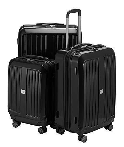 HAUPTSTADTKOFFER - X-Berg - 3er Koffer-Set Koffer Trolley Hartschalenkoffer, TSA (S, M, L ), Schwarz -