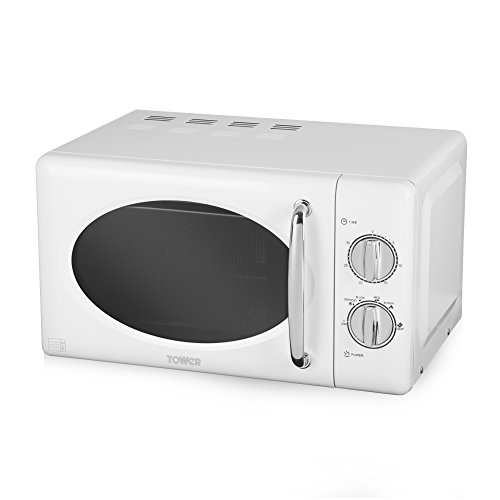 41SMndapfGL. SS500  - Tower Manual Solo Microwave with 6 Power Levels, 30 Minute Timer, Defrost Function, Stainless Steel Interior, 800 W, 20…
