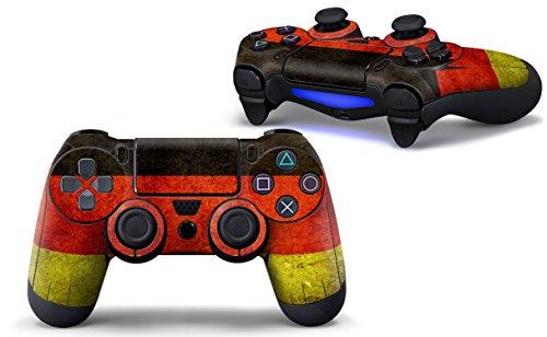 Sony PlayStation 4 Controller Aufkleber - Skin - Sticker | PlayStation 4 Style Schutzfolie für eine coole Optik, besseren Schutz und mehr Spass beim spielen | Auch für PS4 Pro Pad & PS4 Slim Pad geeignet | HappyGaming (DEUTSCHLAND FLAGGE)