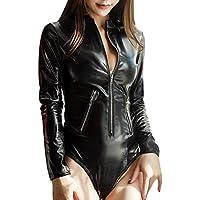 SamMoSon Bodies Mujer Sexy Vestir Ropa Interior De Cuero del Mono Atractivo De Las Mujeres Ropa