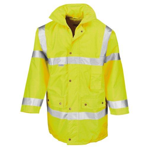 Result Herren Hi Vis Jacke Safeguard (M) (Neon Gelb)