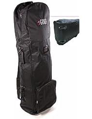 JL Golf Housse/étui de voyage pour sac de golf avec roulettes.