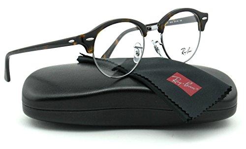 Ray-Ban RX4246V ClubRound Unisex Eyeglasses (Dark Havana Frame 2012, 47)