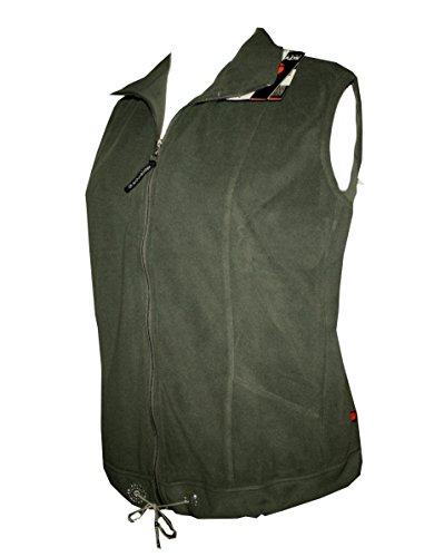 Schneider Sportswear Utta kuschelige Damen Fleece Weste mit Strass Torf