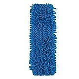 Nyaole Mop Têtes de remplacement Balai Plat de nettoyage de remplacement Pad chenille recharge de balai poussière Chiffon lavable, bleu