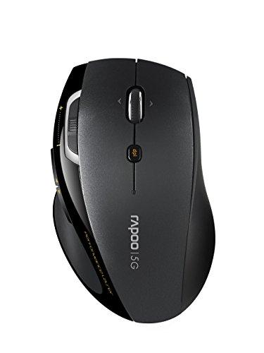 Rapoo 7800P, kabellose Nano-USB Laser Maus, 1600 DPI HD-Sensor, grau