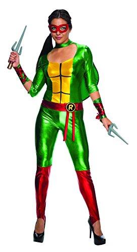 Kostüm Raphael Erwachsenen Für Jumpsuit - Classic Raphael TMNT Women's Jumpsuit Costume Large