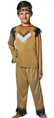 GmbH & Co. KG Indianer-Kostüm für Kinder, 3-teilig, Größe 152/164 ()