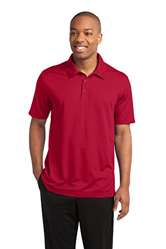 Sport-Tek® PosiCharge® Active Textured Polo. ST690 True Red 2XL