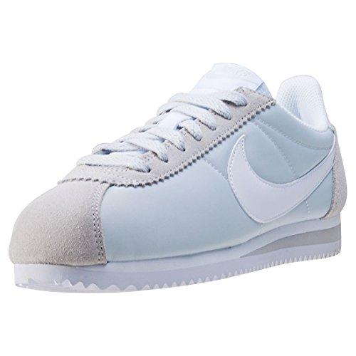 Nike Wmns Classic Cortez Nylon, Chaussures de Running Entrainement Femme Blanco (Blanco (pure platinum/white))