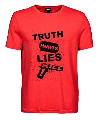 makato Herren T-Shirt Luxury Tee Truth Hurts Coral