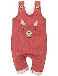 Pinokio - Happy Llama - Pantalón con Peto - Bebés de Mono/de los Muchachos - 100% algodón - un Mono Abotonado Unisex | Ladrillo Rojo 62,68,74,80,86