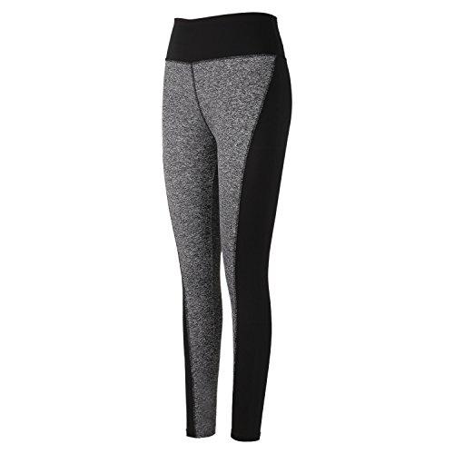 DAS Leben enge lange Yogahose, Laufhose, Strumpfhosen, Jogginghose, Leggings für Damen (M, grau in der Front)
