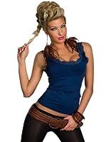 Fashion4Young Damen Träger-Top Spitze Shirt verfügbar in vielen Farben