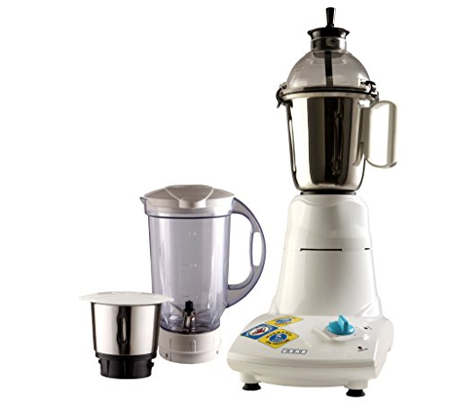 Usha Mixer Grinder (MG-2573) 750-Watt 3 Jars (White)