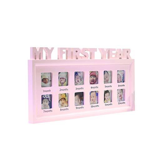 Haorw Bilderrahmen Fotorahmen,Kunststoff,fur 0-12 Monate Baby Gedenken Sie Kinder Die Gedächtnis-Geschenk Wachsen