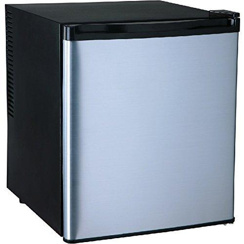 Syntrox Germany A+ Silber/Schwarz 55 Liter geräuscharmer 25 db Mini Kühlschrank leiser Hotelkühlschrank