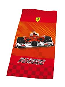 global labels g 10 400 f30 100 serviette de plage en velours motif voiture de course ferrari 150. Black Bedroom Furniture Sets. Home Design Ideas