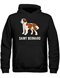 Saint Bernard Illustration Kids' Hoodie by Shirtcity