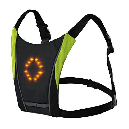 Lomsarsh Radfahren Fahrrad Wireless Safety Blinker Licht Weste Reiten Nachtführung