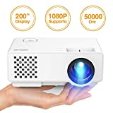 Proiettore Portatile, DBPOWER 2000 Lumen Mini Proiettore Full HD Supporto 1080P Video Proiettore 50000 ore Con 200' Display LED Home Cinema Multimedia Proiettore per iPhone Smartphone Tablet PC