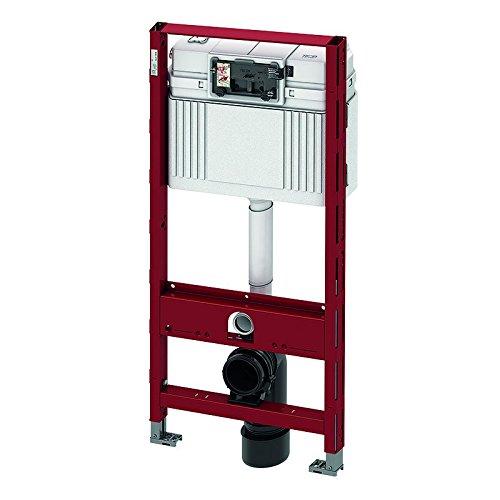 Tece Teceprofil WC-Modul mit Tece-Spülkasten, komplett vormontierte Einheit für die Befestigung an Profilrohren, WC-Modul mit Betätigung von vorne, Bauhöhe 1120 mm, Art.Nr. 9300000
