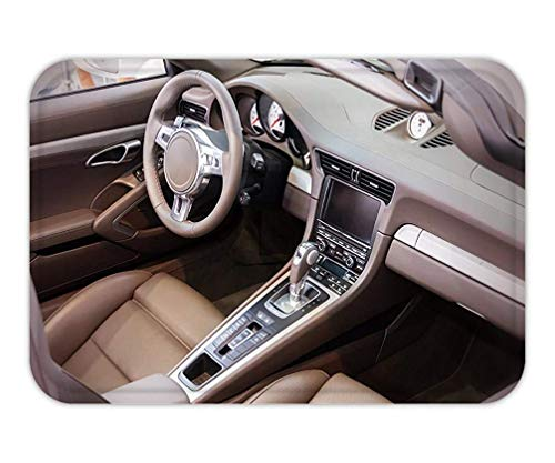 LULABE Doormat Dark Luxury car Interior Steering Wheel Shift Lever and Dashboard 23.6 W X 15.7 W Inches Cashmere-shift