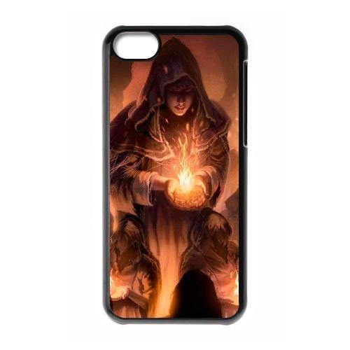 Dark Souls coque iPhone 5C Housse téléphone Noir de couverture de cas coque EBDXJKNBO15255