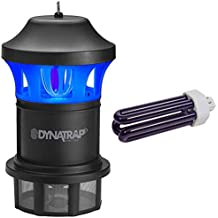 Dynatrap DT1775 Insect Mosquito Trap (Black) with Extra Replacement Bulb