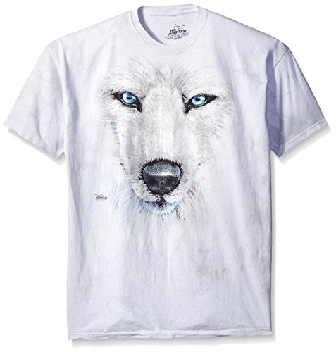 The Mountain Maglietta White Wolf Face Wolf Adulto Unisex XL