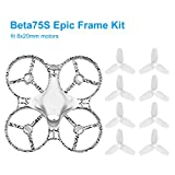 BETAFPV Beta75S 75mm Whoop Frame Kit Epic Freestyle Frame with Canopy 40mm 3-Blade Props for Inductrix FPV Tiny Whoop Drone with 8x20mm Motors