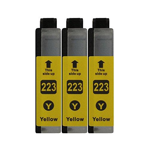 3 Druckerpatronen kompatibel zu LC223 Yellow für Brother DCP-J562DW DCP-J4120DW MFC-J480DW MFC-J680DW MFC-J880DW MFC-J4420DW MFC-J4620DW MFC-J4625DW MFC-J5320DW MFC-J5620DW MFC-J5625DW MFC-J5720DW