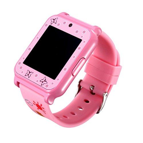 Preisvergleich Produktbild Joyeer Smart Watch für Kinder 1,5 Zoll LCD Mikro SIM Karte Armbanduhr mit 1,5 Zoll LCD Mikro SIM Karte Armbanduhr Anruf Erinnerung Mädchen Geschenke , pink