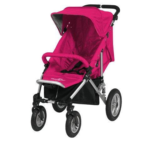 EasyWalker Easy Walker QTRO Basis Kinderwagen pink mit Alurahmen, Sportsitz, Regenhaube und Frontbügel, Sportwagen, Buggy