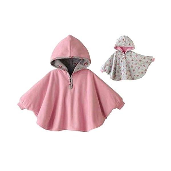 TININNA Lindo Capa Poncho con Capucha,Abrigo con Sombrero Infantil del Cabo del Poncho con Capucha de la Felpa de la… 3