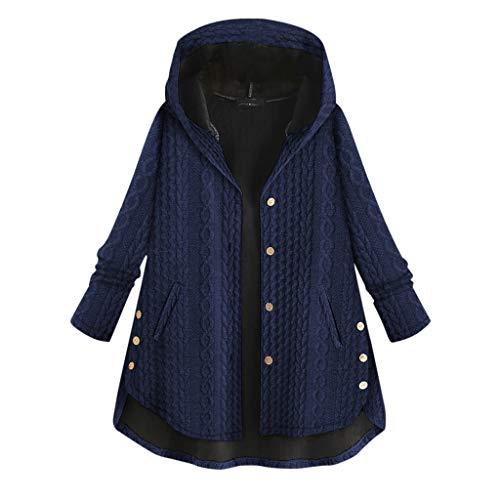 Coversolate Elegant Strickmantel Damen Lang mit Kapuze Plus Größe Mantel Winter Outwear