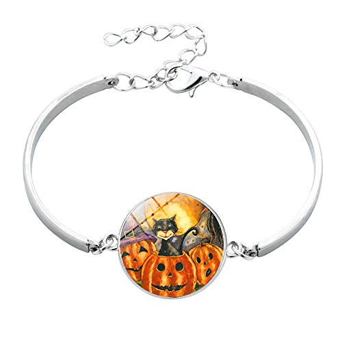 Halloween Party Set Halloween Kürbis Zeit Edelstein Armband 902-3 1 Packung für Festival Cosplay Halloween Kostüm