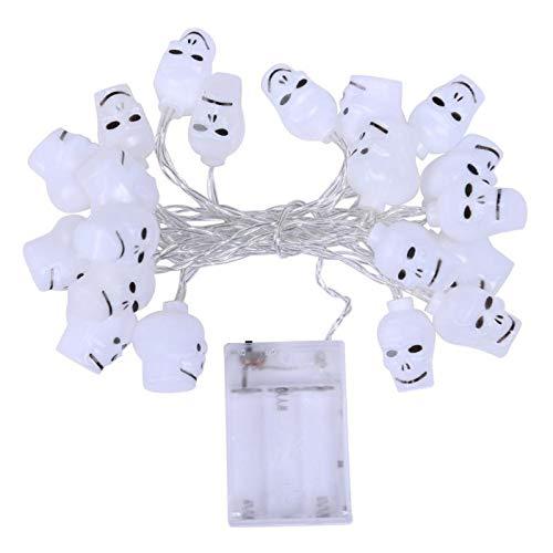 Batteriebetriebene 2.5M 20LED Schädel-Geister-geformte LED-Schnur beleuchtet Dekoration Halloween Innenbeleuchtung im Freien ()
