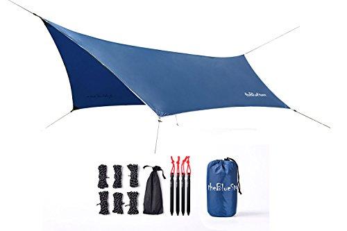 Thebluestone hexagon impermeabile leggero campeggio amaca tarp tenda riparo per campeggio all' aperto viaggio