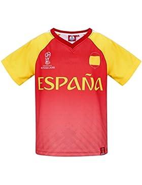2018 FIFA World Cup Chicos Camiseta Manga Corta - Rojo
